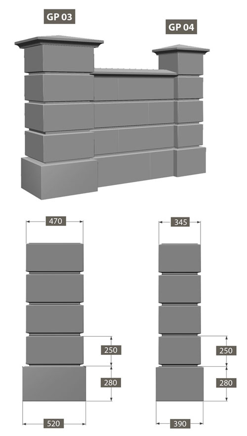 how to build a double thickness brick wall